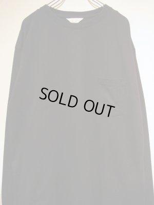 画像1: UNUSED(アンユーズド) オーバーサイズ 3DロングスリーブTシャツ ブラック