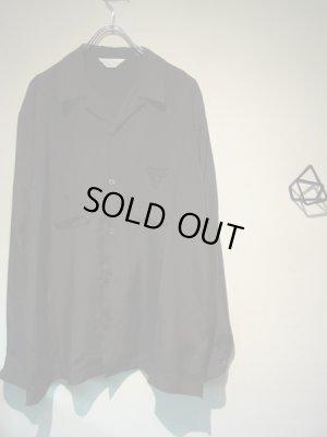 画像2: UNUSED(アンユーズド) オープンカラー ロングスリーブレーヨンシャツ ブラック