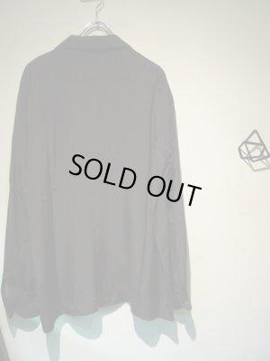 画像5: UNUSED(アンユーズド) オープンカラー ロングスリーブレーヨンシャツ ブラック
