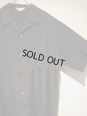 画像3: UNUSED(アンユーズド) オープンカラー レーヨンシルクショートスリーブシャツ ブラック