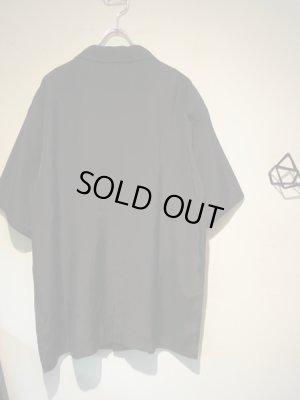 画像5: UNUSED(アンユーズド) オープンカラー レーヨンシルクショートスリーブシャツ ブラック