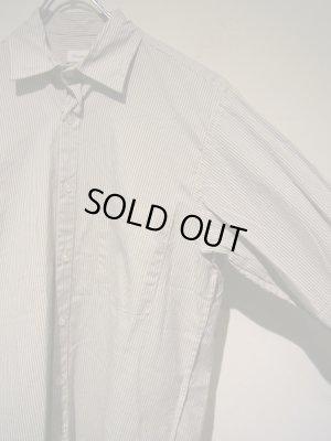 画像3: steven alan(スティーブンアラン) ストライプコットンシャツ ホワイト×グレー