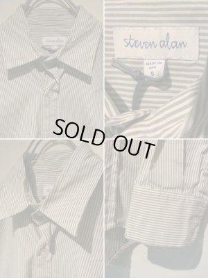画像4: steven alan(スティーブンアラン) ストライプコットンシャツ ホワイト×グレー