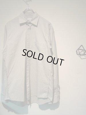 画像2: steven alan(スティーブンアラン) ストライプコットンシャツ ホワイト×グレー