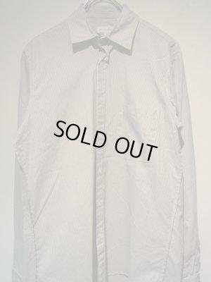 画像1: steven alan(スティーブンアラン) ストライプコットンシャツ ホワイト×グレー