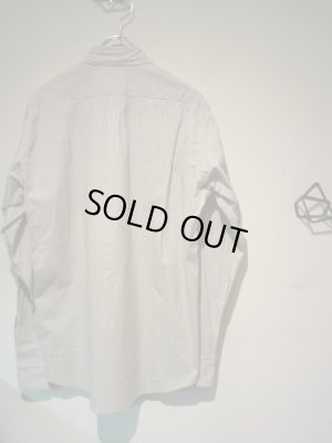 画像5: steven alan(スティーブンアラン) ストライプコットンシャツ ホワイト×グレー