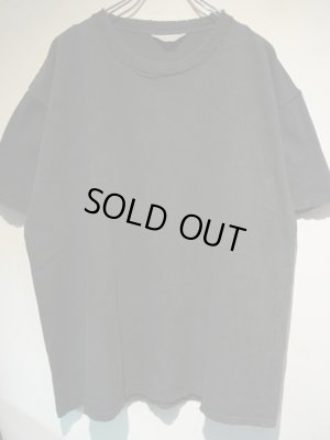 画像1: UNUSED(アンユーズド) ダメージTシャツ ブラック