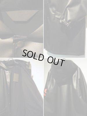 画像4: ESSAY(エッセイ) PUレザー フーデッドコート ブラック