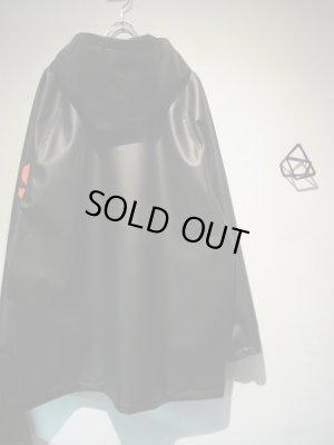 画像5: ESSAY(エッセイ) PUレザー フーデッドコート ブラック