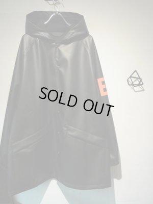画像2: ESSAY(エッセイ) PUレザー フーデッドコート ブラック