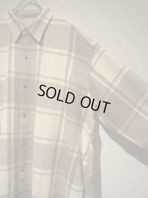 画像3: UNUSED(アンユーズド) オーバーサイズ サイドスリットチェックシャツ