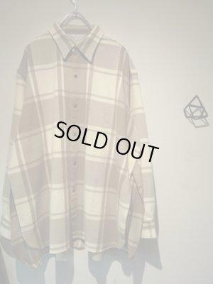 画像2: UNUSED(アンユーズド) オーバーサイズ サイドスリットチェックシャツ
