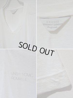 画像4: UNUSED(アンユーズド) ステンシル VネックTシャツ ホワイト