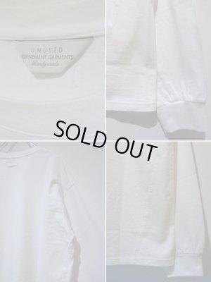 画像4: UNUSED(アンユーズド) オーバーサイズ 3DロングスリーブTシャツ ホワイト