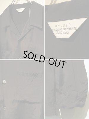画像4: UNUSED(アンユーズド) オープンカラー ロングスリーブレーヨンシャツ ブラック