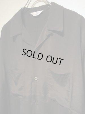 画像3: UNUSED(アンユーズド) オープンカラー ロングスリーブレーヨンシャツ ブラック