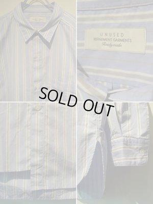 画像4: UNUSED(アンユーズド) アシンメトリー ストライプシャツ ブルーストライプ