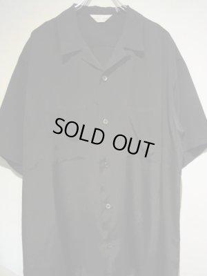 画像1: UNUSED(アンユーズド) オープンカラー レーヨンシルクショートスリーブシャツ ブラック