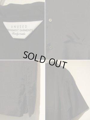 画像4: UNUSED(アンユーズド) オープンカラー レーヨンシルクショートスリーブシャツ ブラック