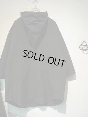 画像2: DAMIR DOMA(ダミールドーマ) オーバーサイズ スカーフカラーシャツ ブラック