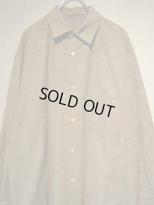 画像1: URU(ウル) フランネル オーバーサイズシャツ ベージュ
