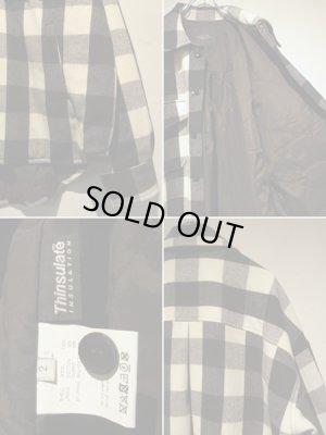 画像4: UNUSED(アンユーズド) オーバーサイズ ブロックチェックウールジャケット ブラック×ホワイト