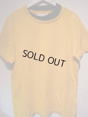 画像1: Maison Margiela(メゾン マルジェラ) 10ライン レイヤードTシャツ オレンジ×ブラック