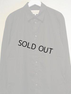 画像1: Maison Margiela(メゾン マルジェラ) 10ライン ウォッシュドコットンシャツ ブラック
