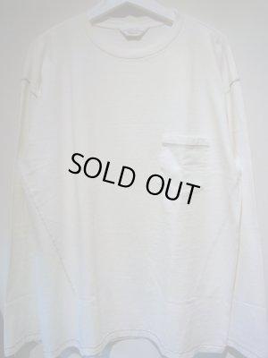 画像1: UNUSED(アンユーズド) ロングスリーブポケットTシャツ ホワイト